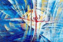 Auferstehung Acryl/Asche 2003 Diptychon