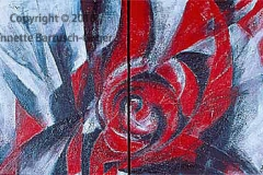 Konfrontation Acryl/Asche 2003 Diptychon
