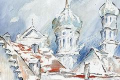 Blick auf Rathaus und Perlach
