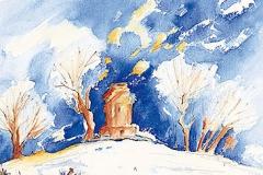 Bismarckturm im Winter, Neusäß
