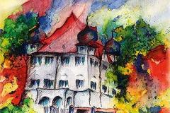 Schloss Elmischwang im Herbst