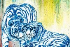 Blaue Tiger im Tierpark