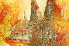 "Oast houses"" – Backsteinhäuser zum Trocknen von Hopfen Kent / England"