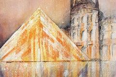 Louvre mit Glaspyramide Paris / Frankreic