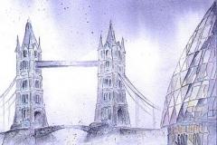 Tower Bridge und City Hall London / England