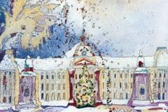 Belgien / Brüssel / Königl. Palast im Winter